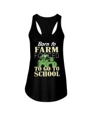 Born to farm forced to go to school  Ladies Flowy Tank thumbnail