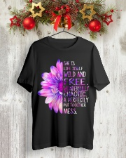 She was life itself wild and wonderfully  Classic T-Shirt lifestyle-holiday-crewneck-front-2