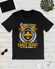 Being a scout is a choice being an eagle scout Premium Fit Mens Tee lifestyle-mens-crewneck-front-17