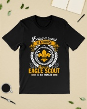 Being a scout is a choice being an eagle scout Premium Fit Mens Tee lifestyle-mens-crewneck-front-19