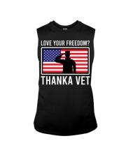 Love your freedom thank a vet Sleeveless Tee thumbnail