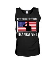 Love your freedom thank a vet Unisex Tank thumbnail