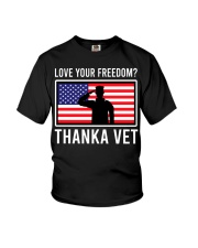 Love your freedom thank a vet Youth T-Shirt thumbnail