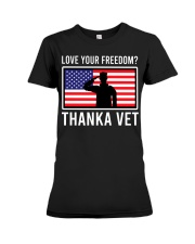 Love your freedom thank a vet Premium Fit Ladies Tee thumbnail