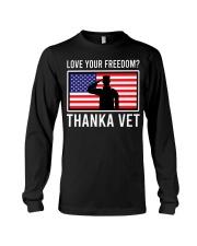Love your freedom thank a vet Long Sleeve Tee thumbnail