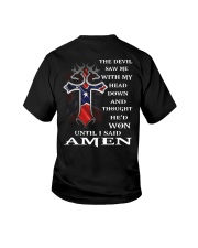 Cross the devil saw me with my head down  Youth T-Shirt thumbnail