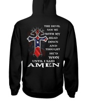 Cross the devil saw me with my head down  Hooded Sweatshirt thumbnail