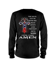 Cross the devil saw me with my head down  Long Sleeve Tee thumbnail