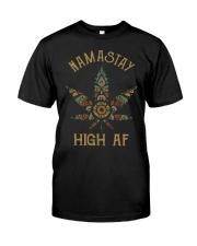 Weed namastay high af Classic T-Shirt thumbnail