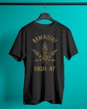 Weed namastay high af Premium Fit Mens Tee lifestyle-mens-crewneck-front-3
