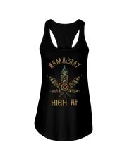 Weed namastay high af Ladies Flowy Tank thumbnail