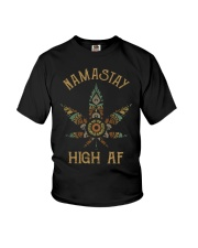 Weed namastay high af Youth T-Shirt thumbnail