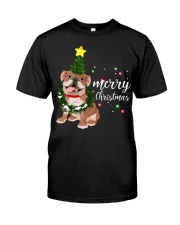 Merry Christmas pug dog  Classic T-Shirt thumbnail