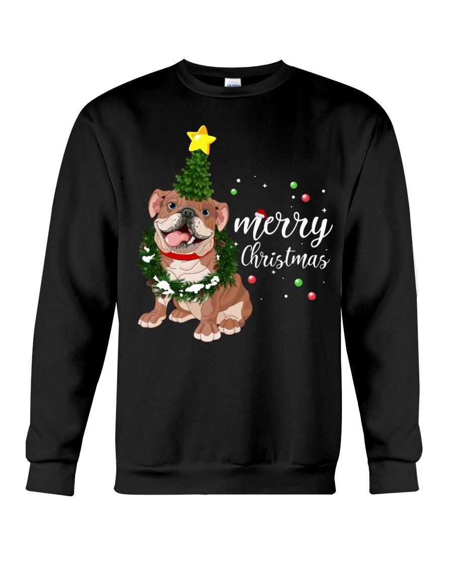 Merry Christmas pug dog  Crewneck Sweatshirt