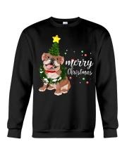 Merry Christmas pug dog  Crewneck Sweatshirt front