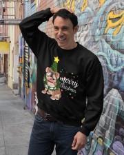 Merry Christmas pug dog  Crewneck Sweatshirt lifestyle-unisex-sweatshirt-front-4