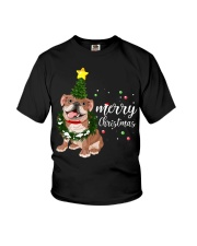 Merry Christmas pug dog  Youth T-Shirt thumbnail