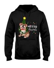Merry Christmas pug dog  Hooded Sweatshirt thumbnail