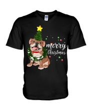 Merry Christmas pug dog  V-Neck T-Shirt thumbnail