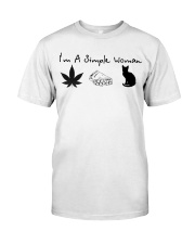 I'm a simple woman I like smoke pizza and cat Premium Fit Mens Tee thumbnail