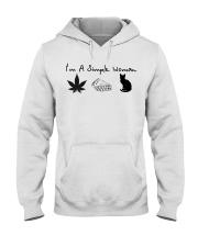 I'm a simple woman I like smoke pizza and cat Hooded Sweatshirt thumbnail