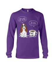 Dog and coffee she loves me more  Long Sleeve Tee thumbnail