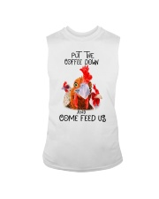 Chicken put the coffee down and come feed Sleeveless Tee thumbnail