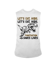 T-rex let eat kids punctuation saves lives Sleeveless Tee thumbnail