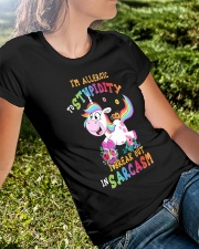 I'm allergic to stupidity I break out Ladies T-Shirt lifestyle-women-crewneck-front-8