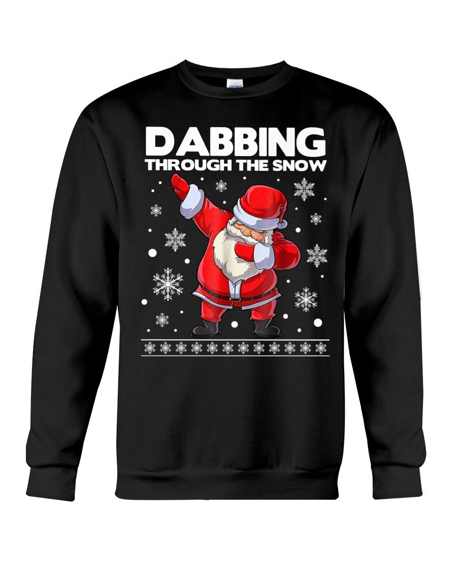 Santa dabbing through the snow  Crewneck Sweatshirt