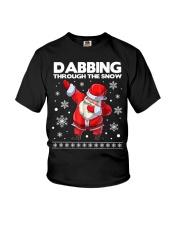 Santa dabbing through the snow  Youth T-Shirt thumbnail
