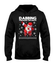 Santa dabbing through the snow  Hooded Sweatshirt thumbnail