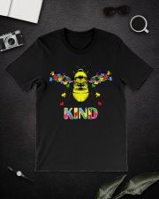 Autism awareness bee kind Premium Fit Mens Tee lifestyle-mens-crewneck-front-16