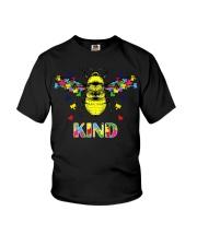 Autism awareness bee kind Youth T-Shirt thumbnail