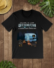 Welcome to camp Quitcherbitchin Dachshund dog  Classic T-Shirt lifestyle-mens-crewneck-front-18