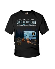 Welcome to camp Quitcherbitchin Dachshund dog  Youth T-Shirt thumbnail