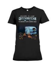 Welcome to camp Quitcherbitchin Dachshund dog  Premium Fit Ladies Tee thumbnail