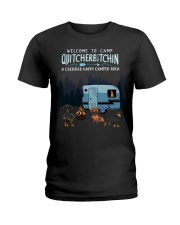 Welcome to camp Quitcherbitchin Dachshund dog  Ladies T-Shirt thumbnail