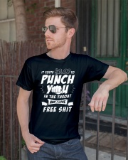 It costs zero dollars to punch you in the throat Classic T-Shirt lifestyle-mens-crewneck-front-2