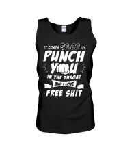 It costs zero dollars to punch you in the throat Unisex Tank thumbnail