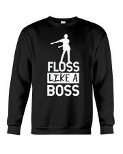 Dance craze floss like a boss Crewneck Sweatshirt thumbnail