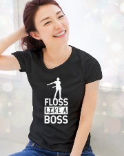 Dance craze floss like a boss Ladies T-Shirt lifestyle-holiday-womenscrewneck-front-1