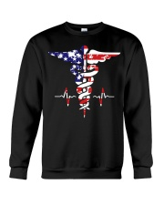 American nurse flag doctor proud  Crewneck Sweatshirt thumbnail