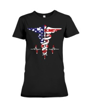 American nurse flag doctor proud  Premium Fit Ladies Tee thumbnail