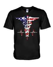 American nurse flag doctor proud  V-Neck T-Shirt thumbnail