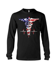 American nurse flag doctor proud  Long Sleeve Tee thumbnail