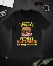 I'm into fitness fitness whataburger in my mouth Classic T-Shirt lifestyle-mens-crewneck-front-16