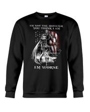 Don't ever mistake my silence for ignorance Crewneck Sweatshirt thumbnail