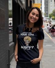 Elephant hippie peace whatever makes your soul Ladies T-Shirt lifestyle-women-crewneck-front-5