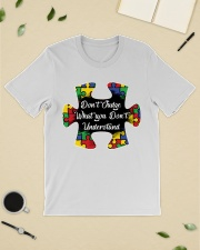 Autism don't judge what you don't understand Classic T-Shirt lifestyle-mens-crewneck-front-19